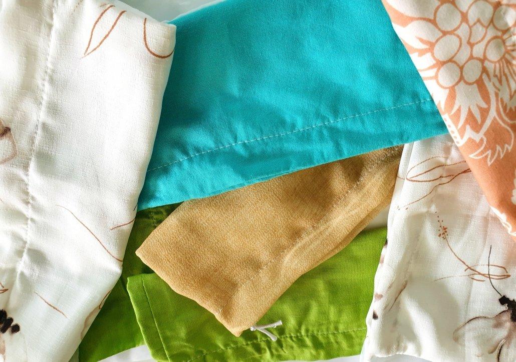 Odrezki tekstila pri izdelovanju zaves. Greenpeace, 2019.